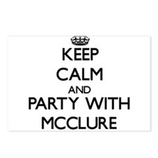 Keep calm and Party with Mcclure Postcards (Packag