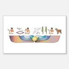 Boykin Hieroglyphs Rectangle Decal