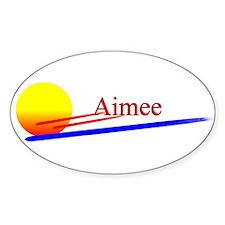 Aimee Oval Decal