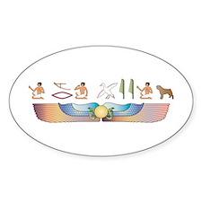 Bouvier Hieroglyphs Oval Decal