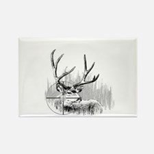 Deer Hunter Rectangle Magnet
