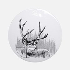 Deer Hunter Ornament (Round)