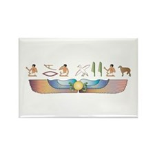 Borzoi Hieroglyphs Rectangle Magnet