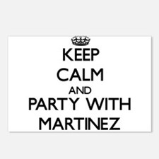 Keep calm and Party with Martinez Postcards (Packa