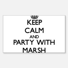Keep calm and Party with Marsh Decal