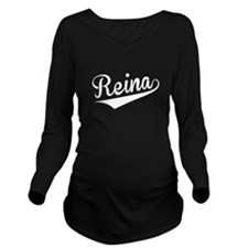 Reina, Retro, Long Sleeve Maternity T-Shirt