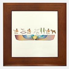 BRT Hieroglyphs Framed Tile