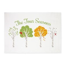 The Four Seasons 5'x7'Area Rug