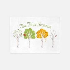 The Four Seasons 5'x7'Area Rug