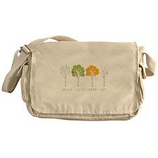 Peace-Love-Hope-Joy Messenger Bag