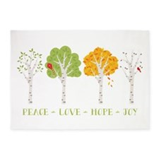 Peace-Love-Hope-Joy 5'x7'Area Rug