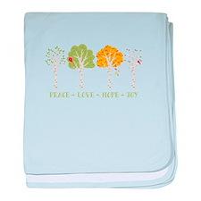 Peace-Love-Hope-Joy baby blanket