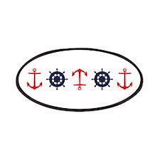Sailing Border Anchors Ship Boat Wheels Patches