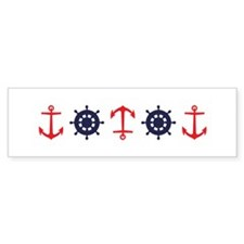 Sailing Border Anchors Ship Boat Wheels Bumper Sti