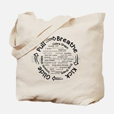 pull breathe kick glide Tote Bag