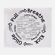 pull breathe kick glide Throw Blanket