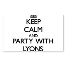 Keep calm and Party with Lyons Decal