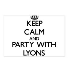 Keep calm and Party with Lyons Postcards (Package
