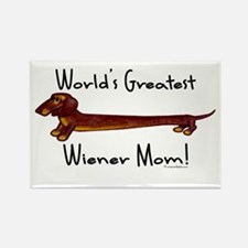 World's Greatest Dachshund Mom! Rectangle Magnet
