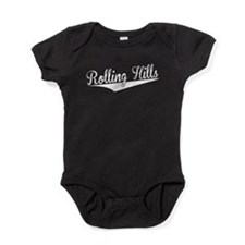 Rolling Hills, Retro, Baby Bodysuit