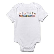 Collie Hieroglyphs Infant Bodysuit