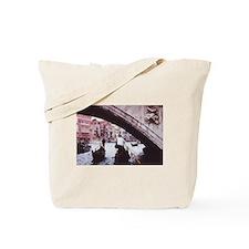 Venice gondolas under bridge painting sty Tote Bag