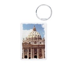 Rome  Vatican Watercolor A Keychains