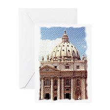 Rome  Vatican Watercolor Art Greeting Card