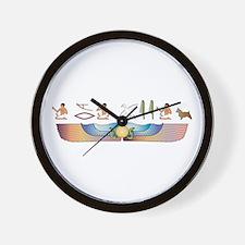 Aussie Hieroglyphs Wall Clock
