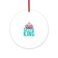 Selfie King Ornament (Round)