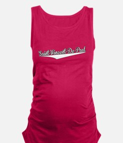 Saint-Vincent-De-Paul, Retro, Maternity Tank Top