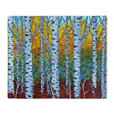 Aspen Trees Throw Blanket