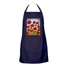 Red Poppies Apron (dark)