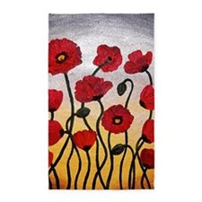 Red Poppies 3'x5' Area Rug