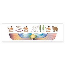 Eskimo Hieroglyphs Bumper Bumper Sticker