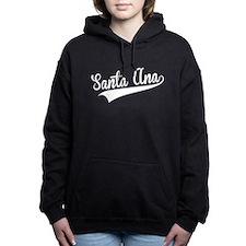 Santa Ana, Retro, Women's Hooded Sweatshirt