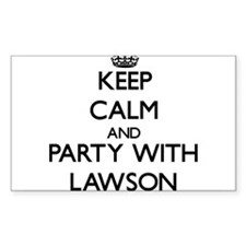 Keep calm and Party with Lawson Decal