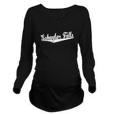 Schuyler Falls, Retro, Long Sleeve Maternity T-Shi