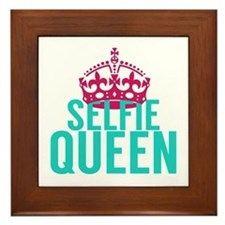 Selfie Queen Framed Tile