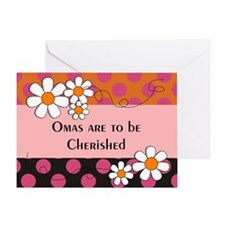 Omas are to be cherished 2 Greeting Cards