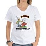 I Grill Women's V-Neck T-Shirt
