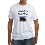 Wildlife Buffalo Fitted T-Shirt