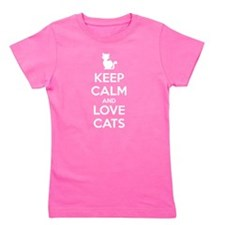 Keep Calm and Love Cats Girl's Tee
