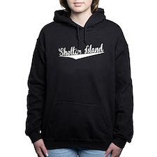 Shelter Island, Retro, Women's Hooded Sweatshirt