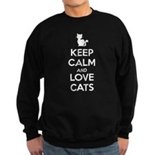 Keep Calm and Love Cats Sudaderas