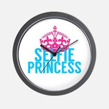 Selfie Princess Wall Clock