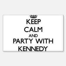 Keep calm and Party with Kennedy Decal
