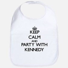 Keep calm and Party with Kennedy Bib