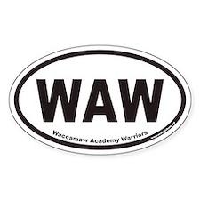 Waccamaw Academy Warriors WAW Euro Oval Decal