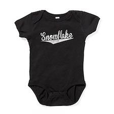 Snowflake, Retro, Baby Bodysuit